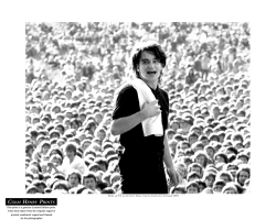 Bono at Slane 1981 by Colm Henry